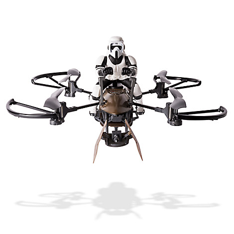 Remote Control 74-Z Speeder Bike Drone with Rider - Star Wars