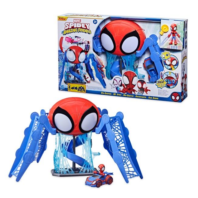 Marvel's Spidey and His Amazing Friends Web-Quarters Play Set by Hasbro