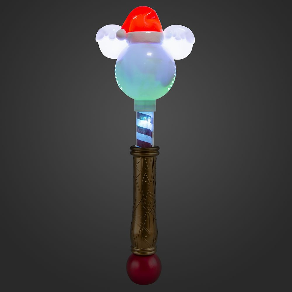 Mickey Mouse Holiday Light-Up Wand with Snow Bubbles