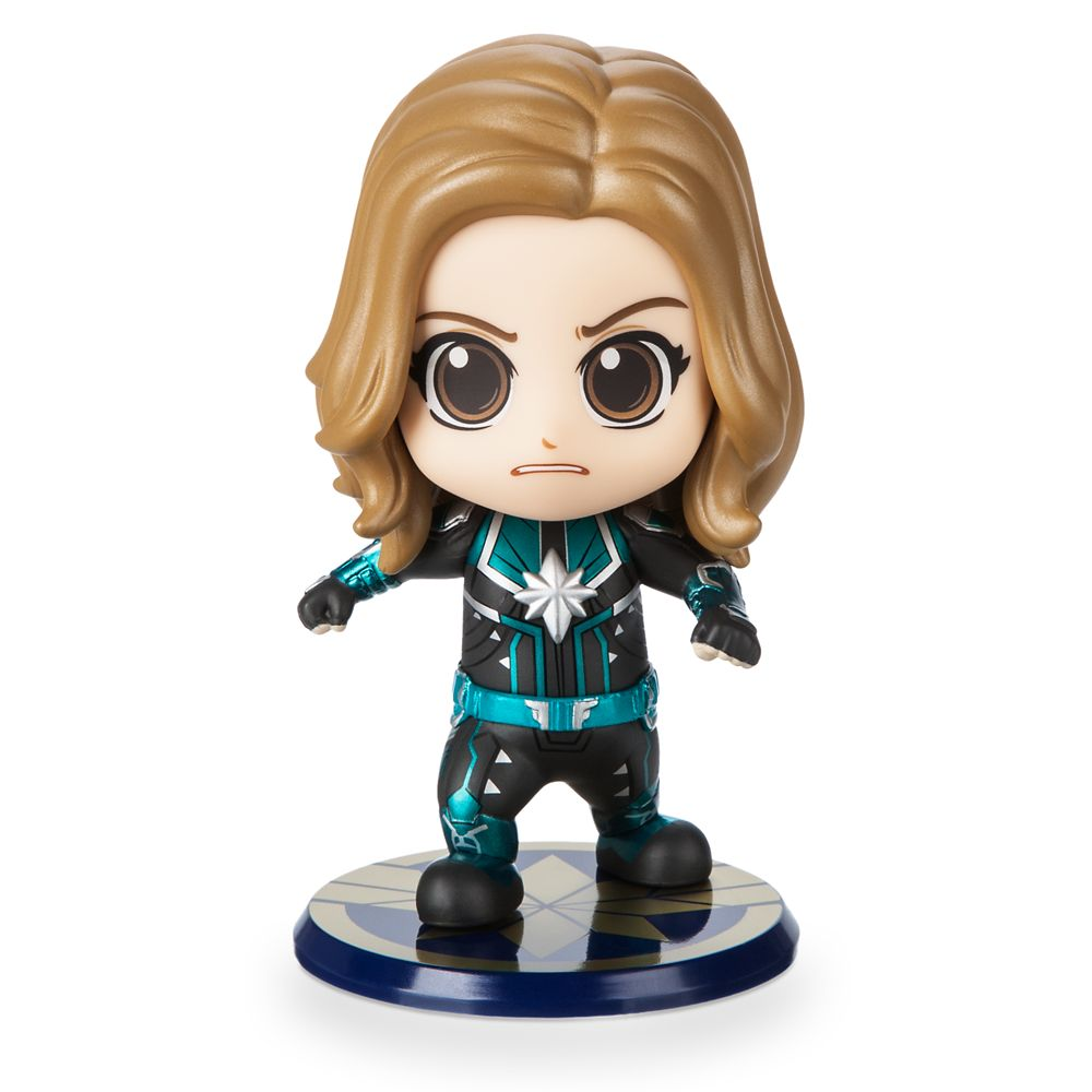 35 Amazing Marvel Gift Ideas featured by top US Disney blogger, Marcie and the Mouse: Marvel's Captain Marvel Cosbaby Bobble-Head Figure by Hot Toys Starforce Version Official shopDisney