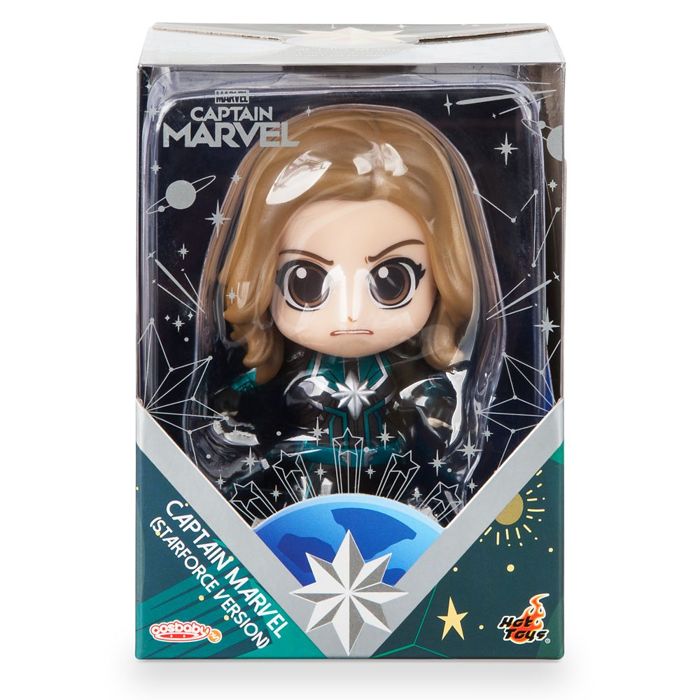 Marvel's Captain Marvel Cosbaby Bobble-Head Figure by Hot Toys – Starforce Version