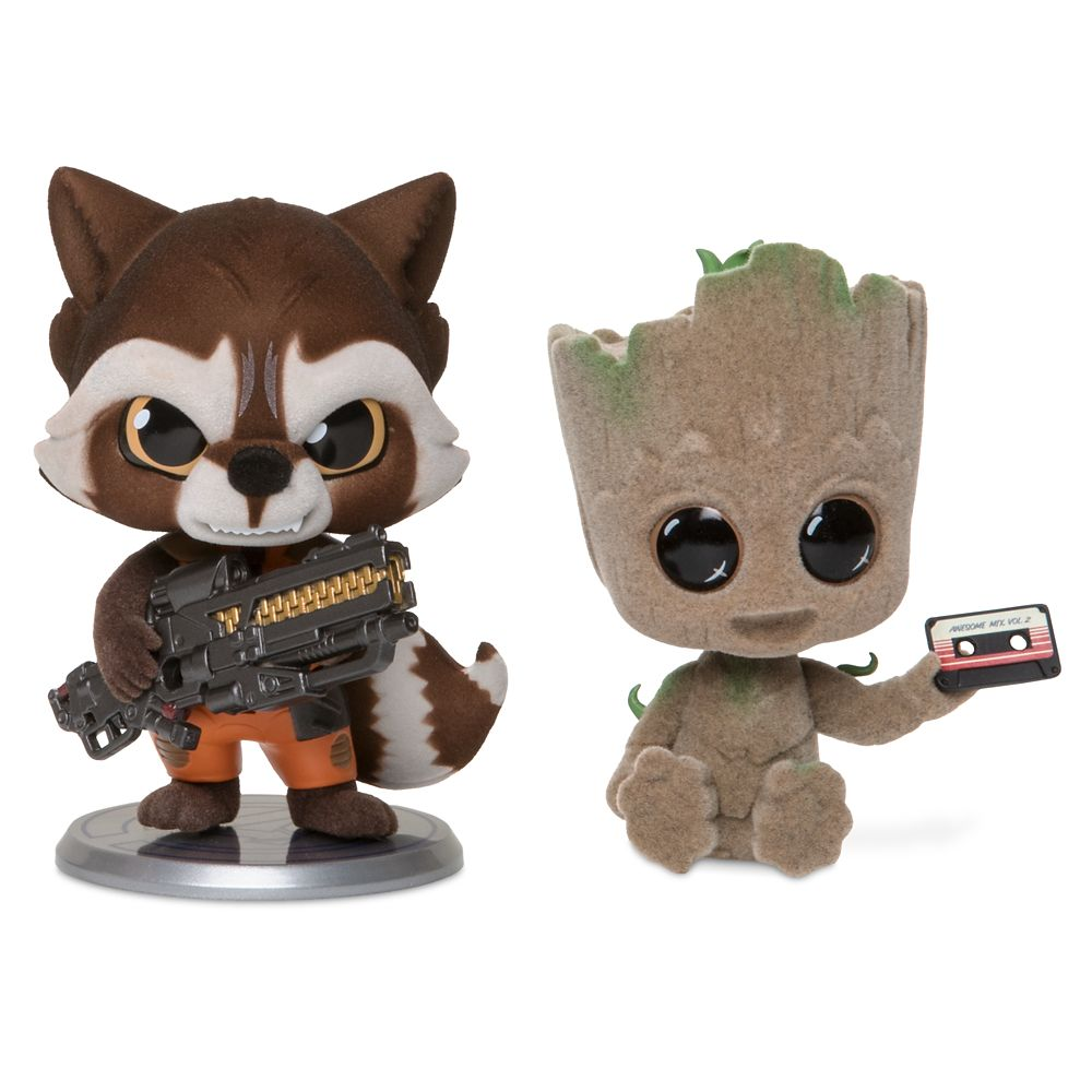 Rocket and Groot Cosbaby Bobble-Head Figure Set by Hot Toys – Guardians of the Galaxy Vol. 2 – Limited Release