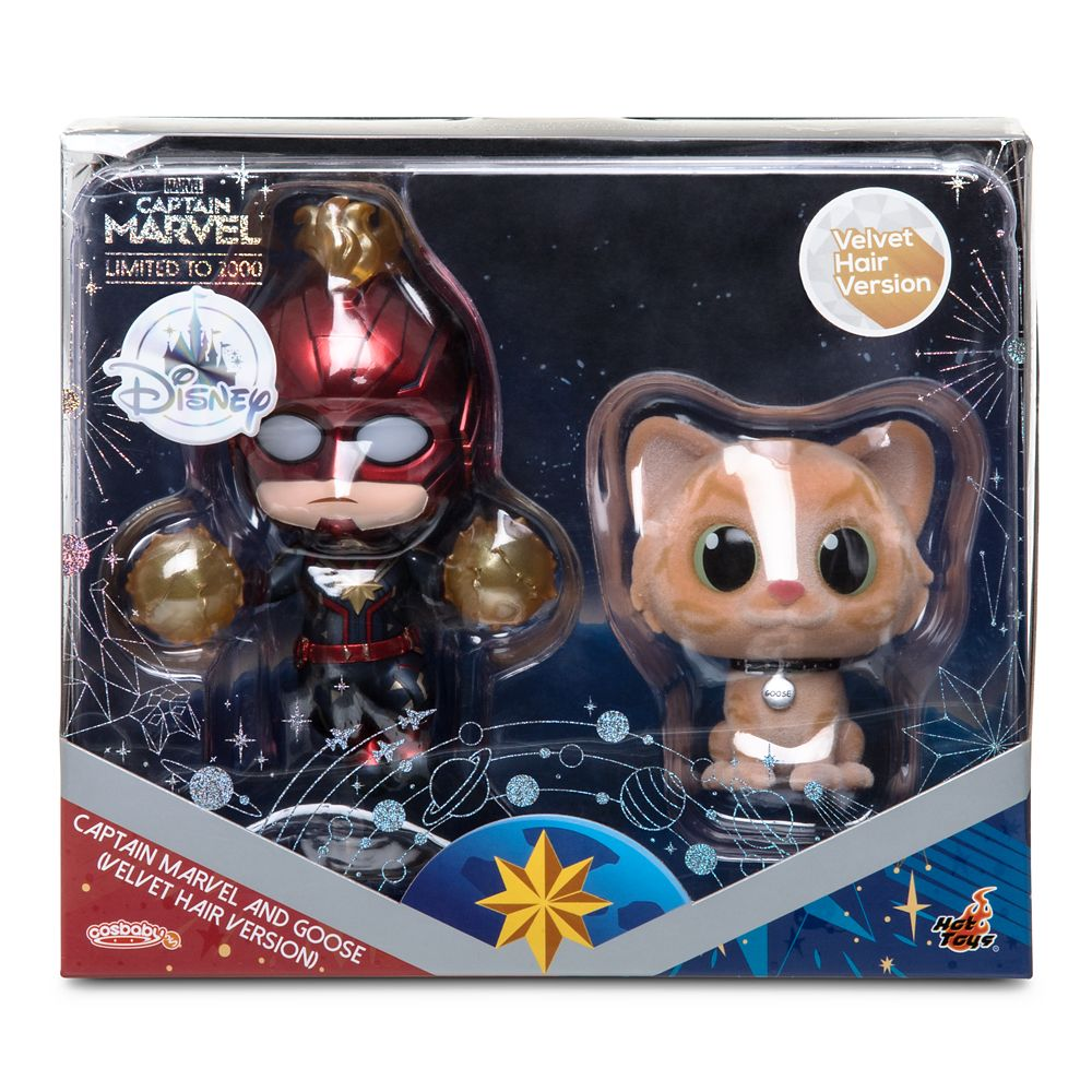 Captain Marvel and Goose Cosbaby Bobble-Head Figure Set by Hot Toys – Limited Release