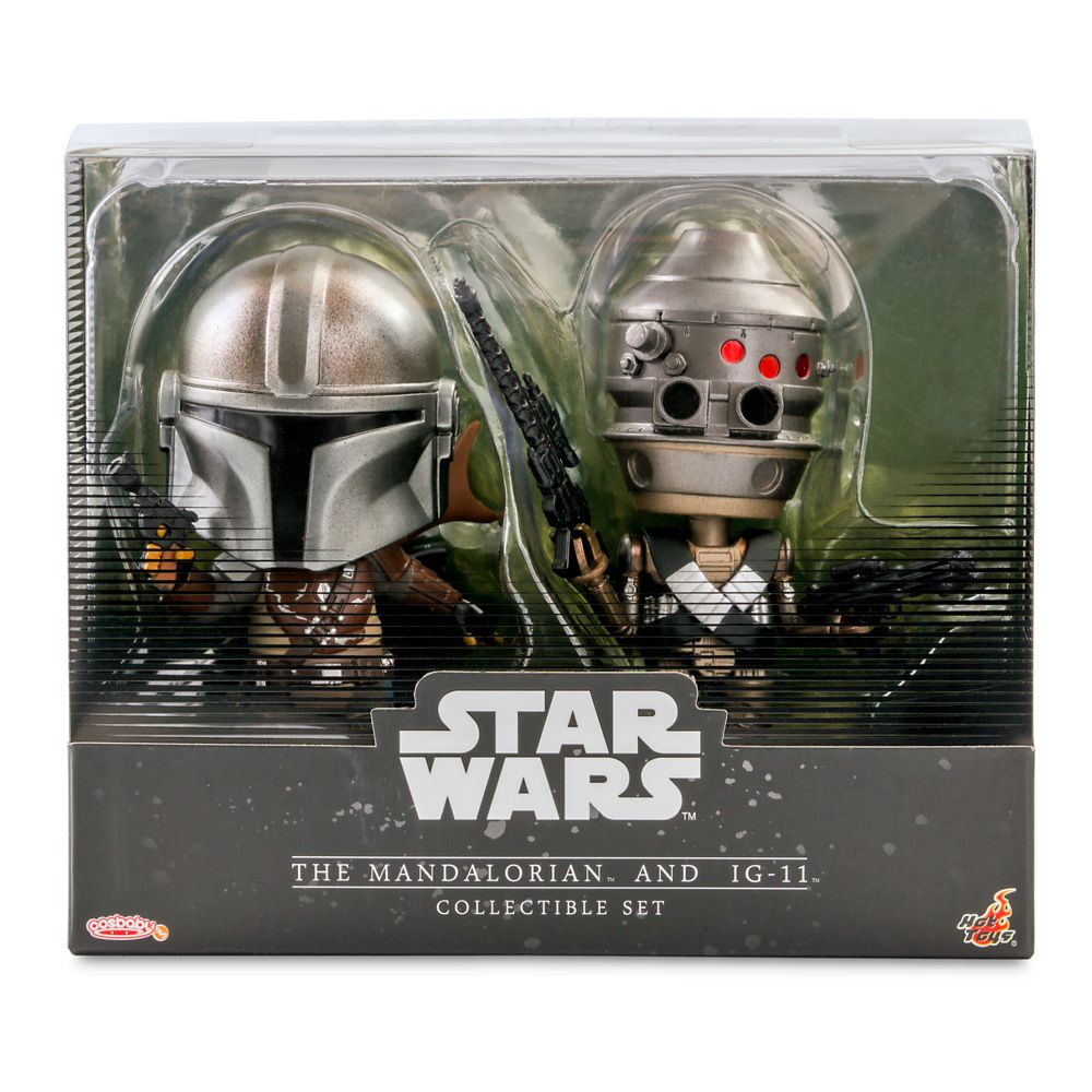 The Mandalorian and IG-11 Cosbaby Bobble-Head Figure Set by Hot Toys – Star Wars