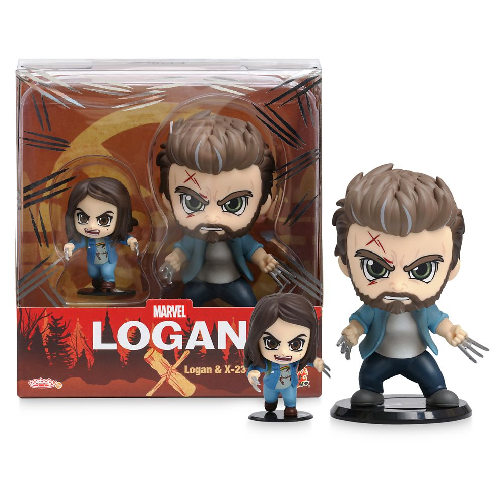 Logan and X-23 Cosbaby Bobble-Head Figure Set by Hot Toys – Logan