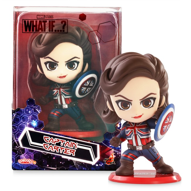 Marvel's Captain Carter Cosbaby Bobble-Head by Hot Toys – Marvel What If...? – Pre-Order