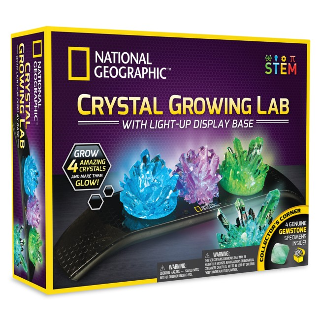 Crystal Growing Lab Play Set with Light-Up Display Base – National Geographic
