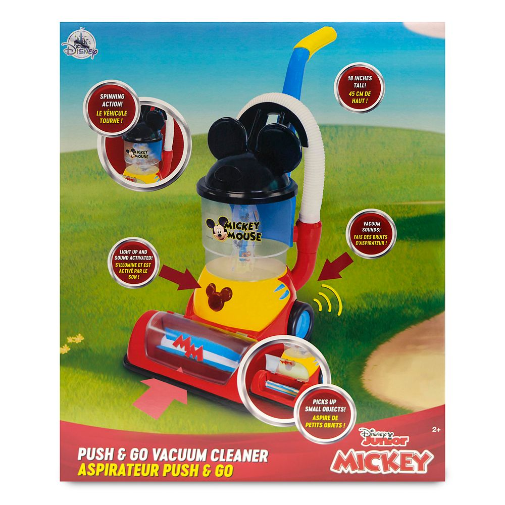 Mickey Mouse Push & Go Vacuum Cleaner Play Set
