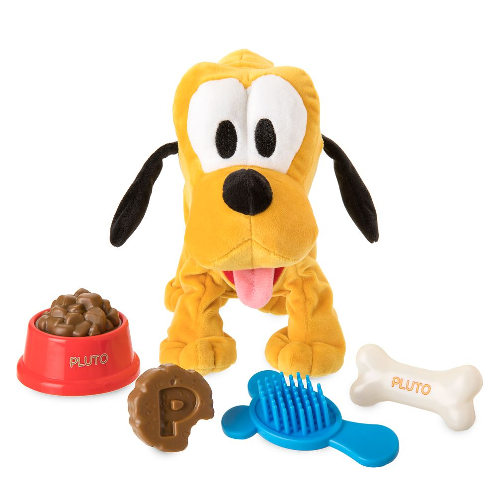 Set Of Dog Stuffed Animals, Pluto Multi Feature Plush Toy Set Shopdisney
