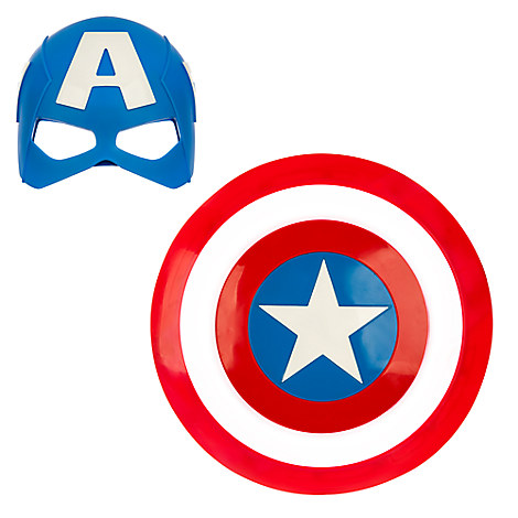 Captain America Mask & Shield Set