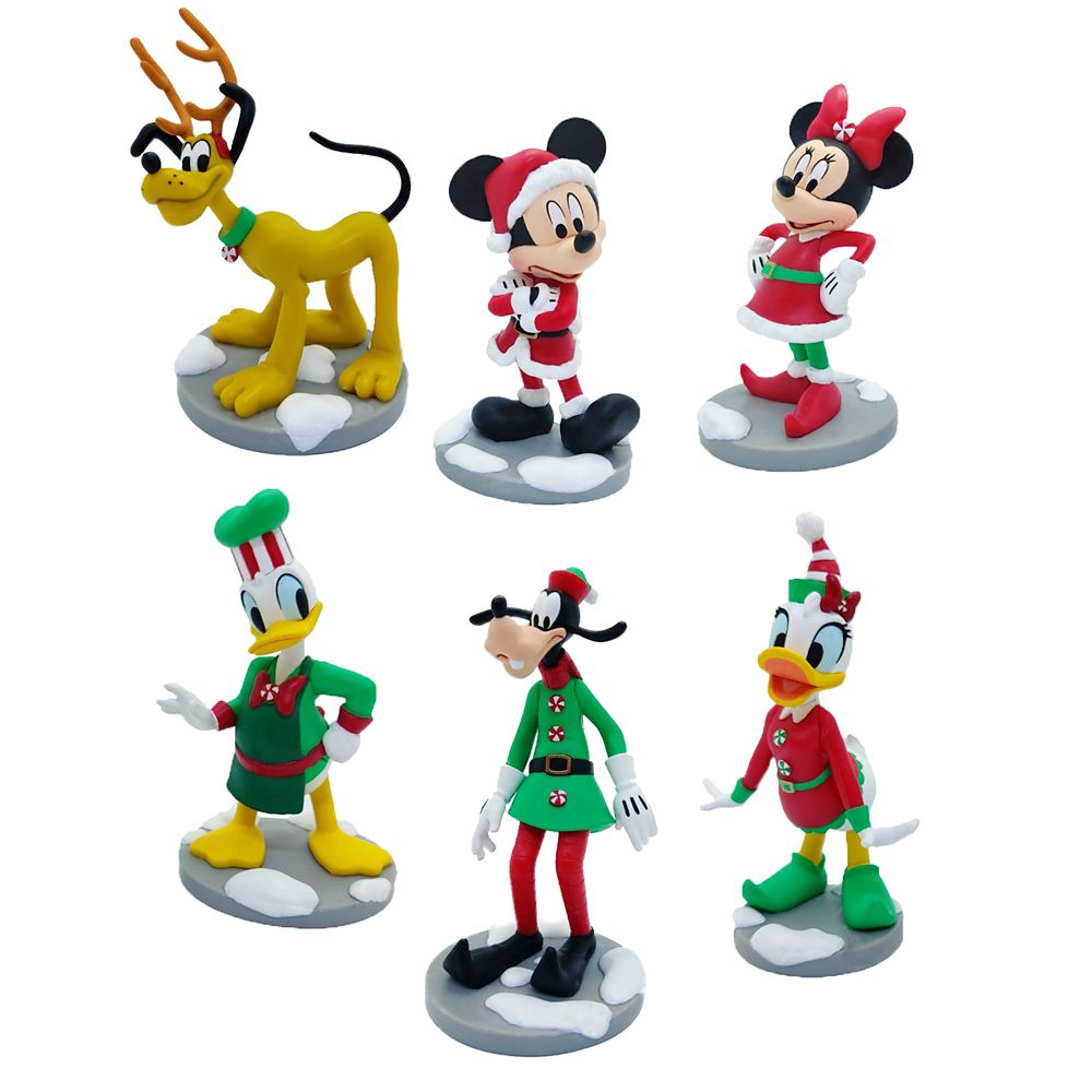 Mickey Mouse and Friends Holiday Figure Play Set