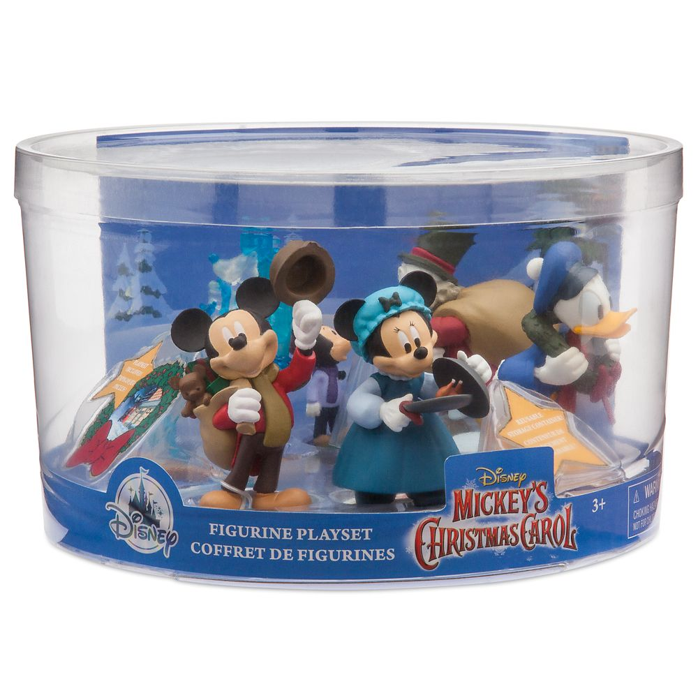 Disney Christmas Carol.Mickey S Christmas Carol Figure Play Set
