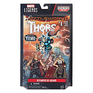 "Marvel Legends Series Defenders of Asgard Action Figure Set - Thor & Odinson - 4"" H"
