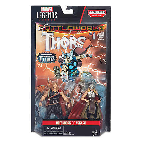 Marvel Legends Series Defenders of Asgard Action Figure Set - Thor & Odinson - 4'' H