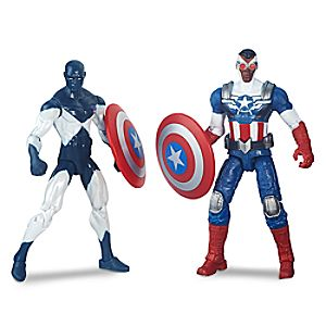 Marvel Legends Series Shield-Wielding Heroes Action Figure Set - Captain America & Vance Astro - 4 H