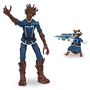 Groot and Rocket Raccoon - Marvel Legends Series Action Figure Set - Guardians of the Galaxy - 6""