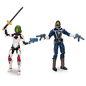 Gamora and Star-Lord - Marvel Legends Series Action Figure Set - Guardians of the Galaxy - 6'' 630509452934P