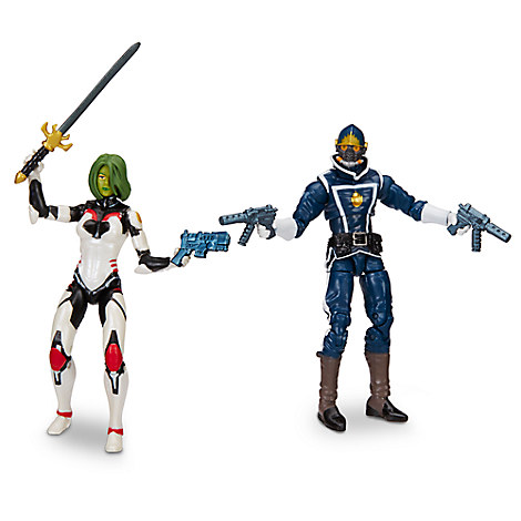 Gamora and Star-Lord - Marvel Legends Series Action Figure Set - Guardians of the Galaxy - 6''
