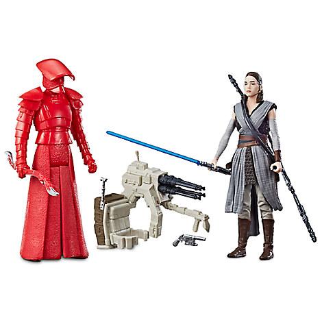 Rey & Elite Praetorian Guard Force Link Action Figure Set by Hasbro - Star Wars: The Last Jedi - 3 3/4''
