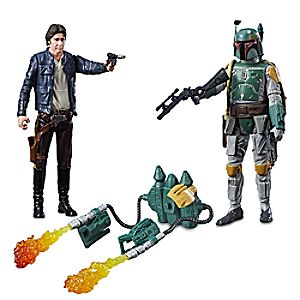 Han Solo & Boba Fett Force Link Action Figure Set by Hasbro - Star Wars - 3 3/4'' 630509519507P