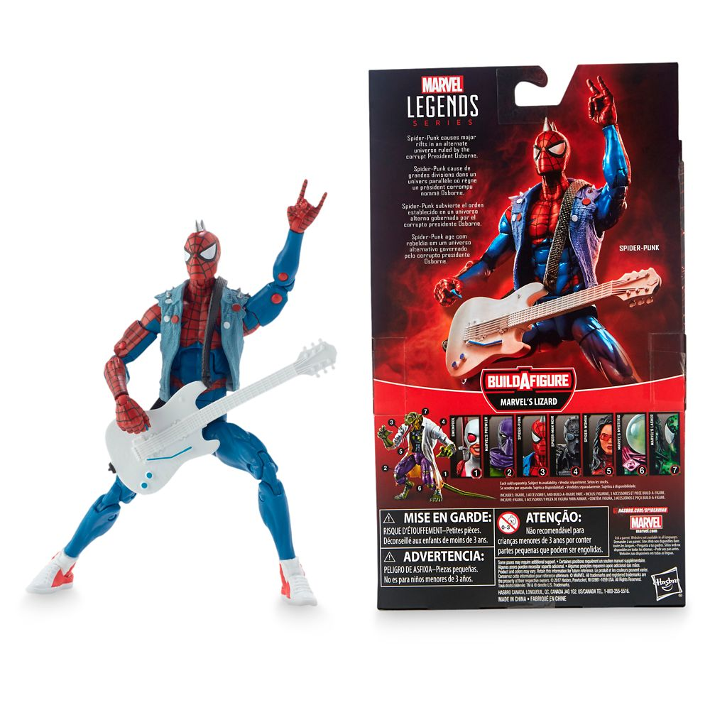 Spider-Punk Action Figure – Legends Build-A-Figure Collection – 6''