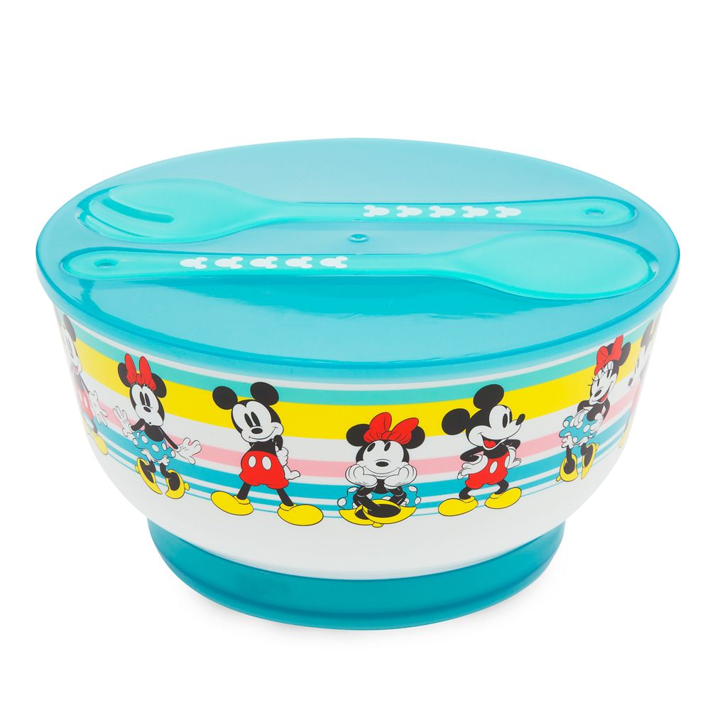 22 Disney Gifts for Mom featured by top US Disney blogger, Marcie and the Mouse: Mickey and Minnie Mouse Salad Bowl Set with Ice Pack Base – Disney Eats
