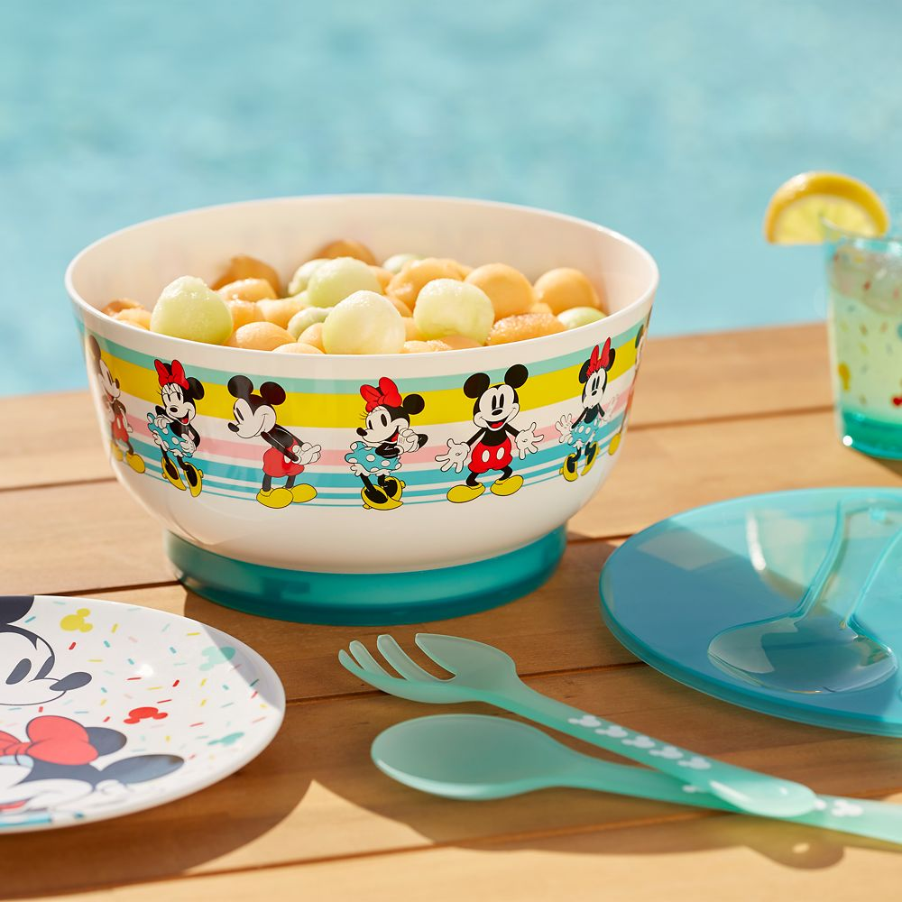 Mickey and Minnie Mouse Salad Bowl Set with Ice Pack Base – Disney Eats