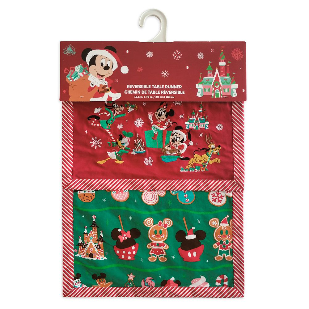 Mickey Mouse and Friends Reversible Holiday Table Runner