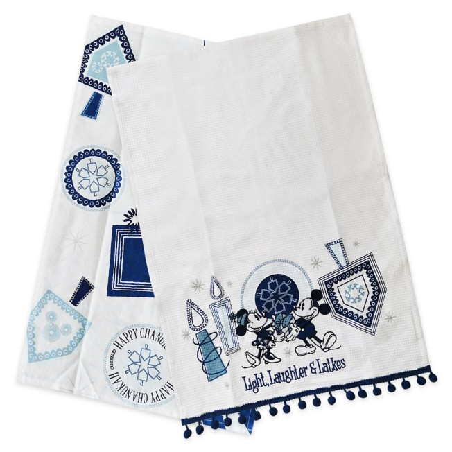 Mickey and Minnie Mouse Chanukah Kitchen Towel Set