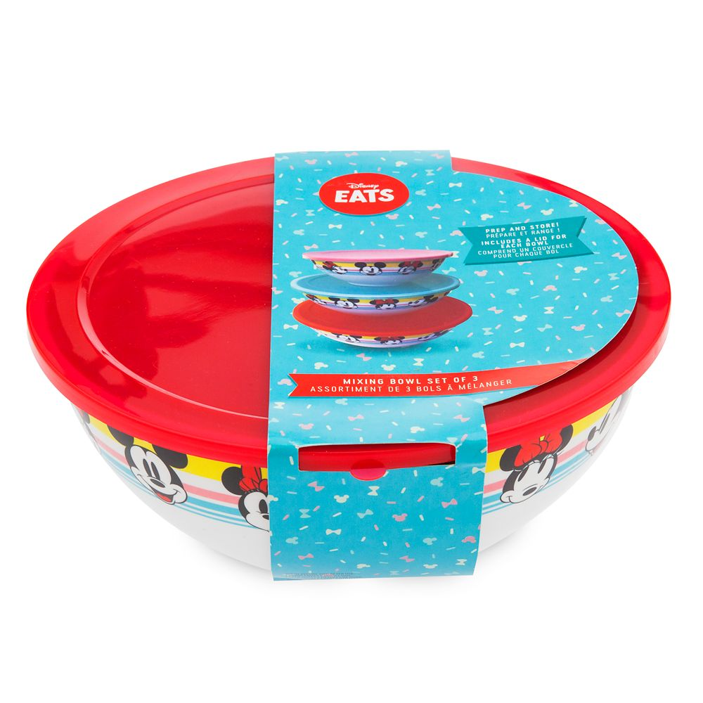 Mickey and Minnie Mouse Mixing Bowl Set – Disney Eats