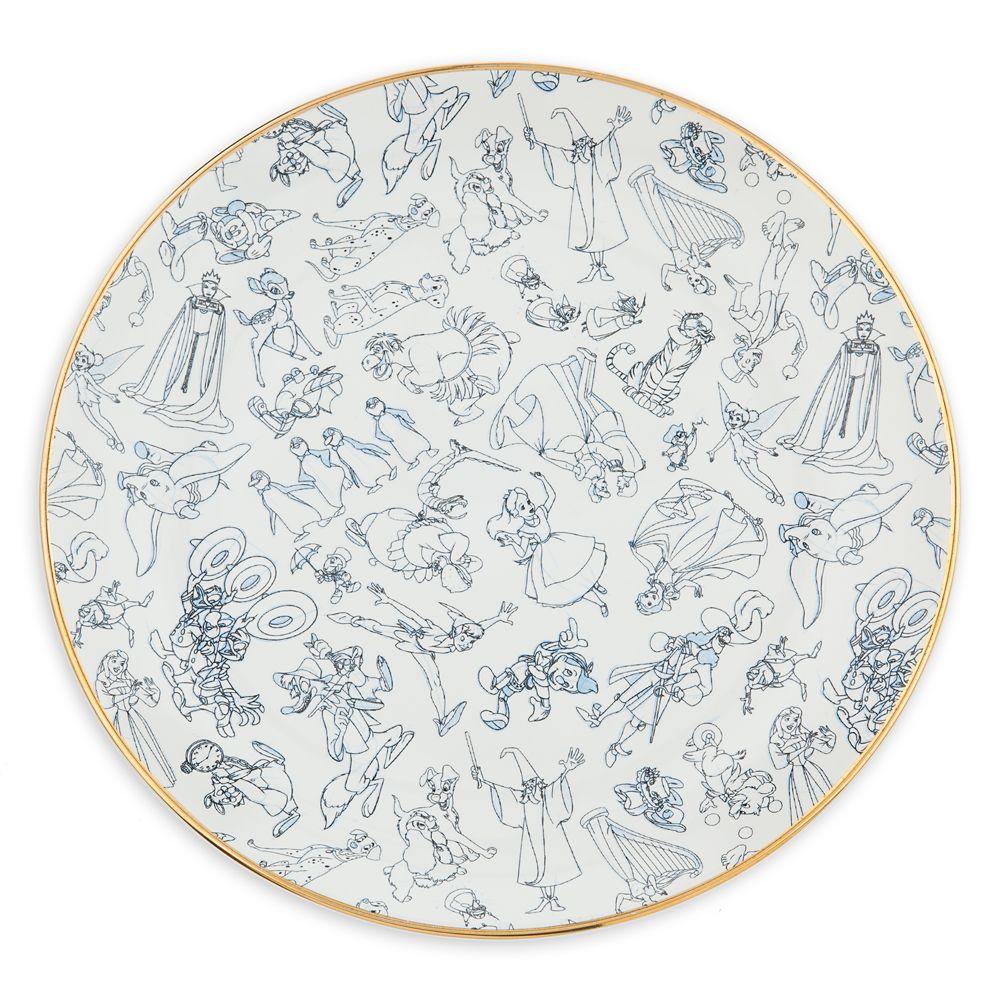 Disney Ink & Paint Ceramic Dinner Plate