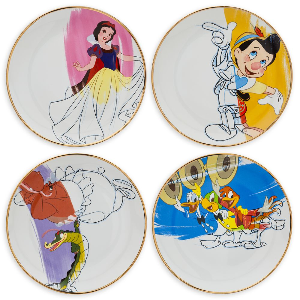 Disney Ink & Paint Ceramic Salad Plate Set – '30s - '40s