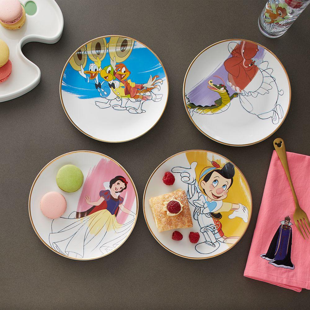 Disney Ink & Paint Ceramic Salad Plate Set – '30s - '40s