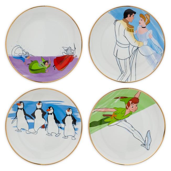 Disney Ink & Paint Ceramic Salad Plate Set – '50s - '60s