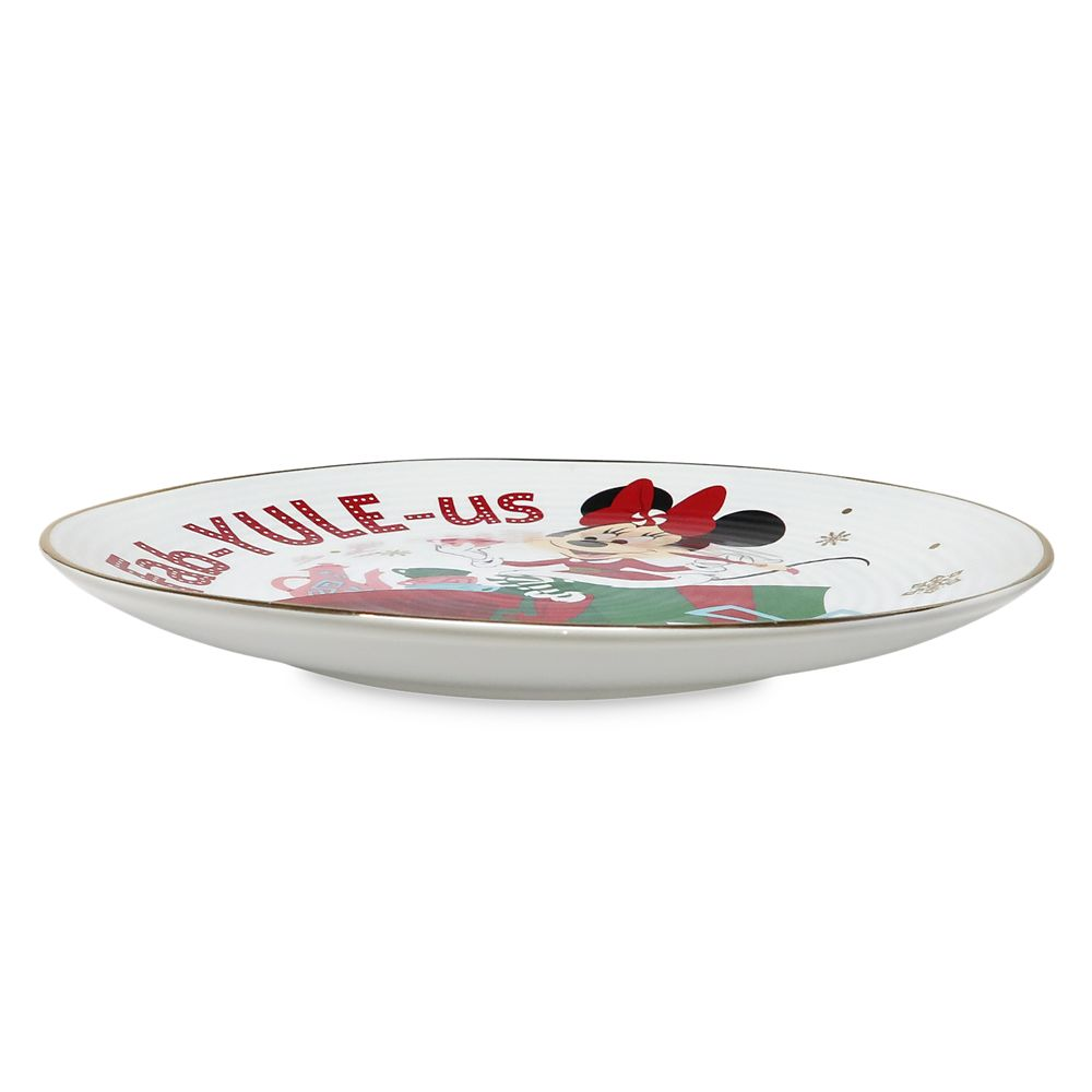 Minnie Mouse Holiday Dessert Plate
