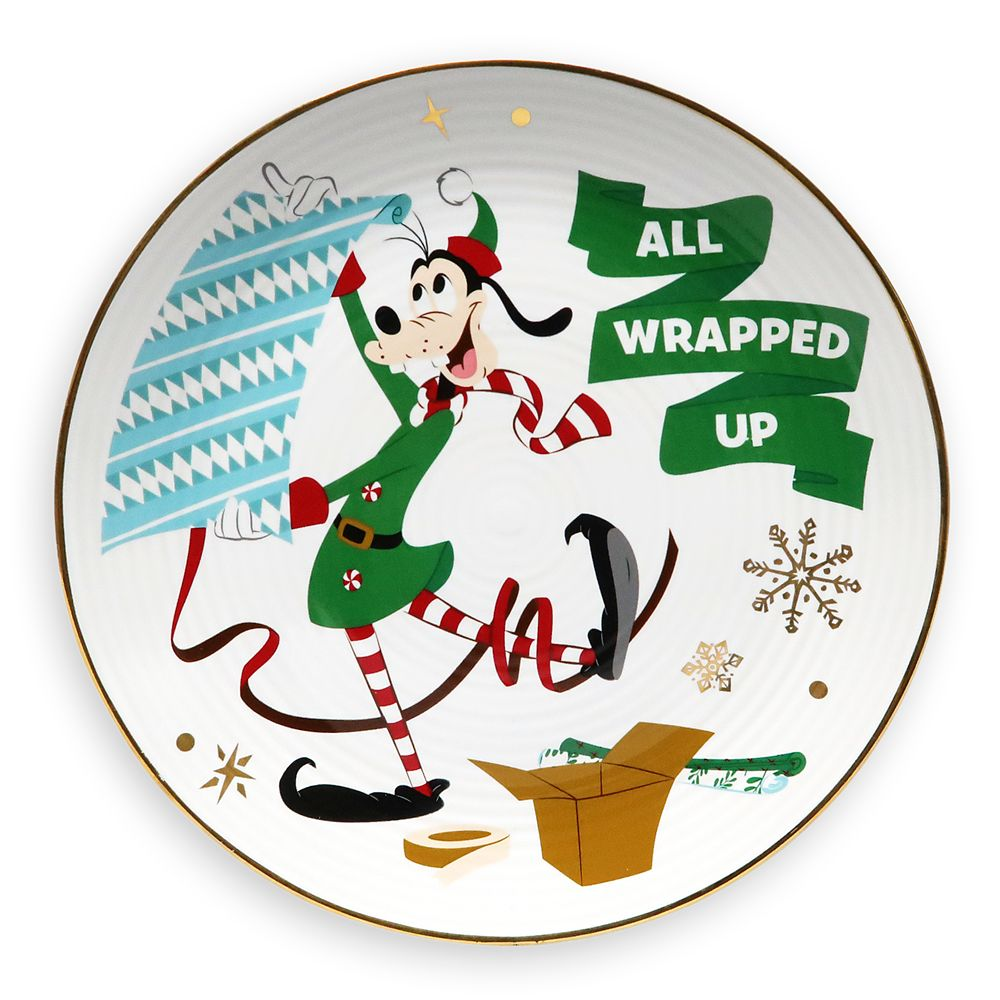 Goofy Holiday Dessert Plate