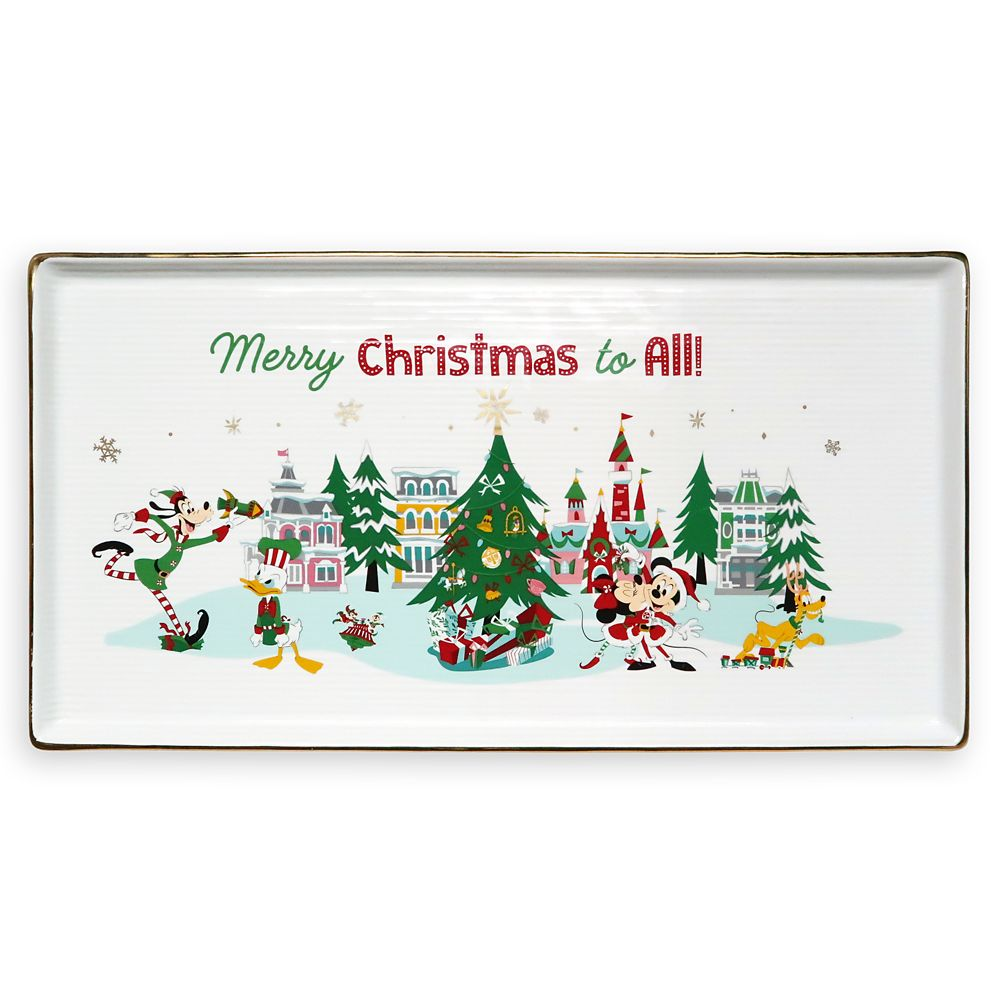Mickey Mouse and Friends Holiday Serving Dish