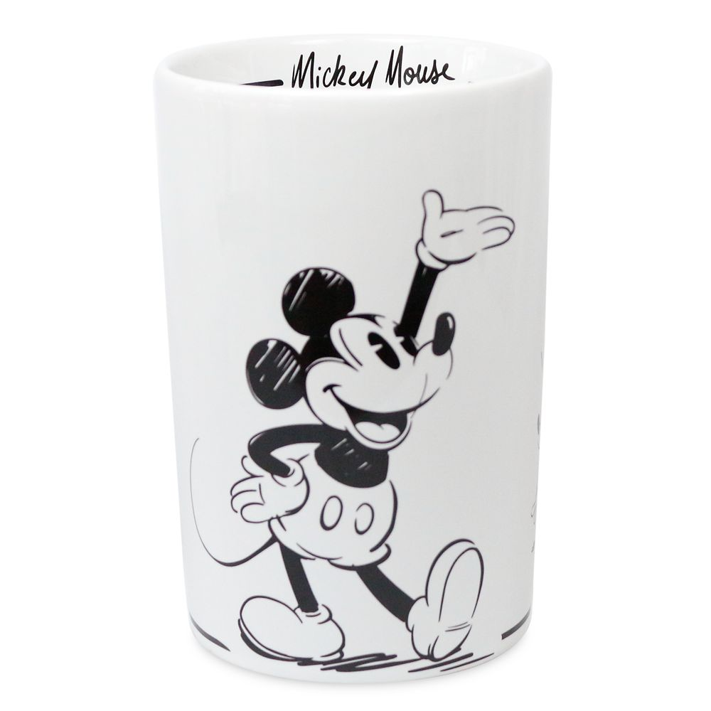 Mickey Mouse Black and White Utensil Holder