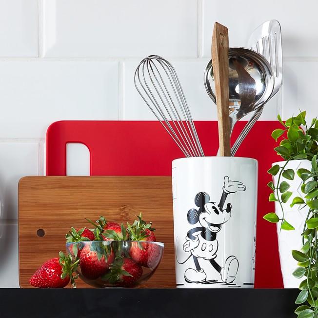 Mickey Mouse Black And White Utensil Holder Shopdisney