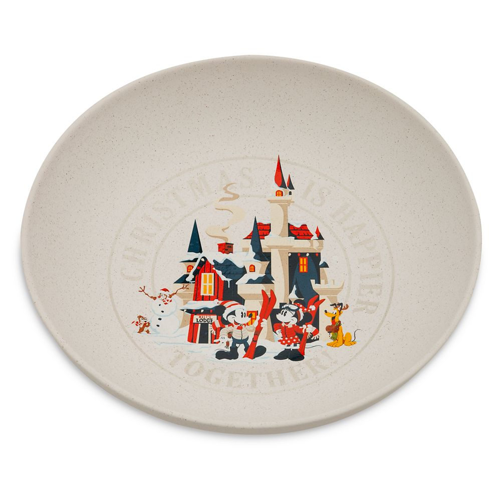 Mickey Mouse and Friends Holiday Serving Bowl
