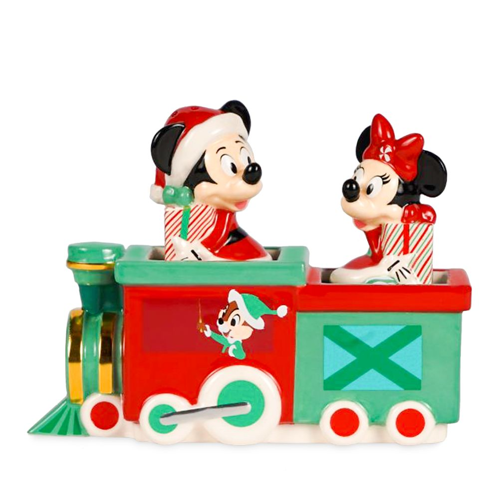 Mickey and Minnie Mouse Holiday Salt&Pepper Set