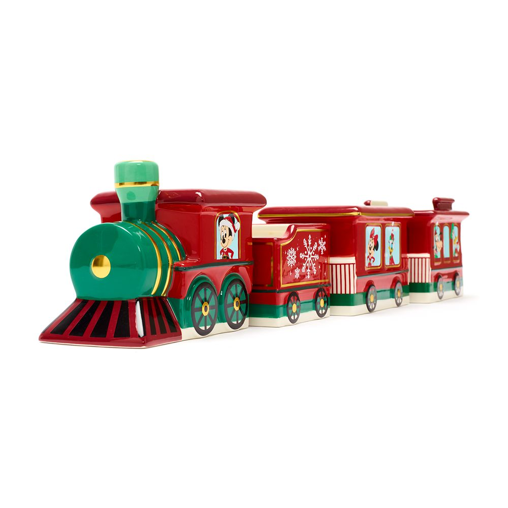 Mickey Mouse and Friends Holiday Train Bowl Set