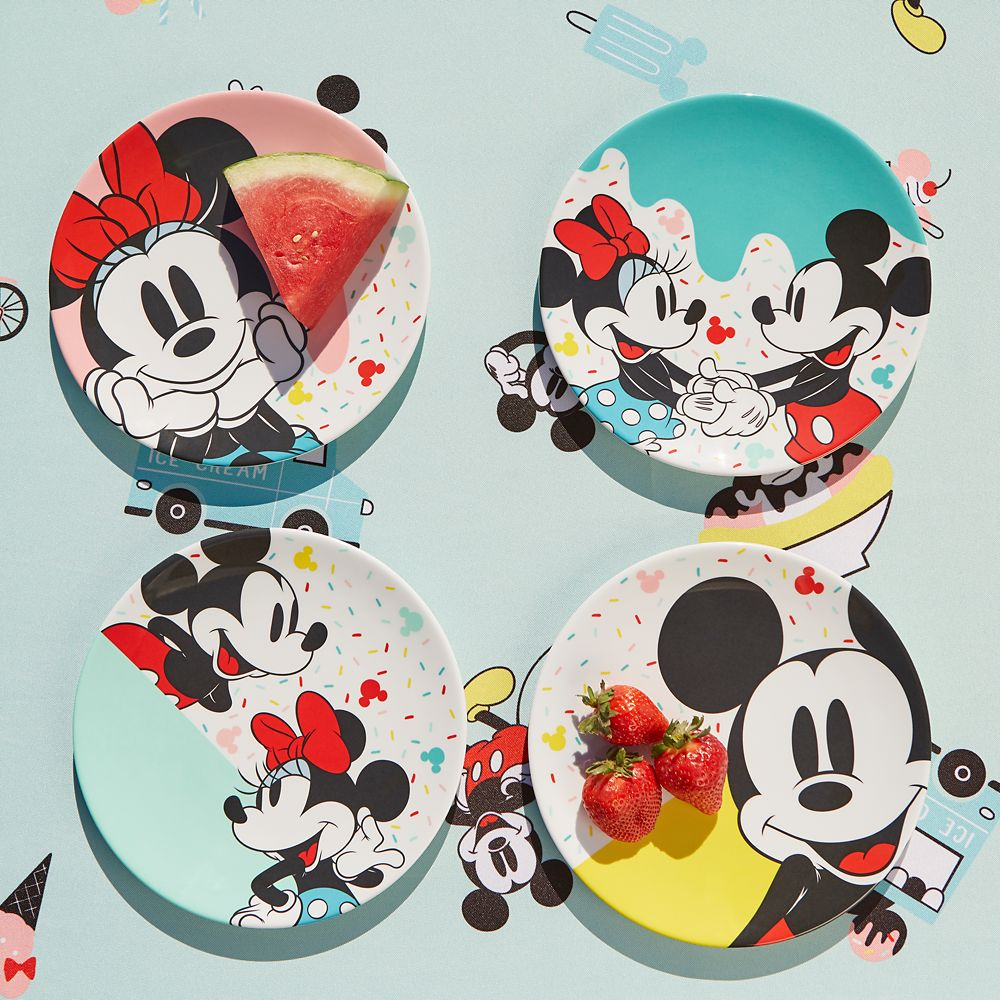Mickey and Minnie Mouse Plate Set – Disney Eats