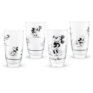 Mickey Mouse Black and White Drinking Glass Set