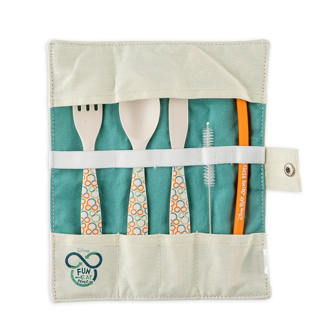 Mickey Mouse Repeatables Reusable Utensil and Straw Set