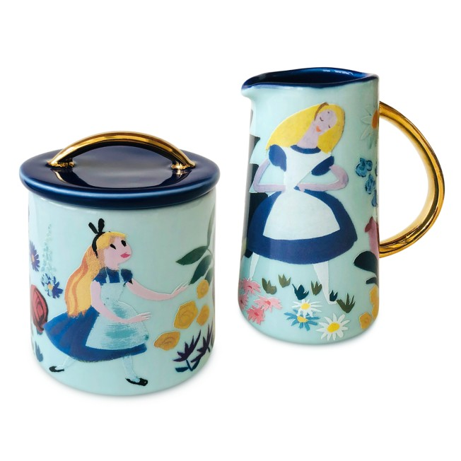 Alice in Wonderland by Mary Blair Creamer and Sugar Bowl Set