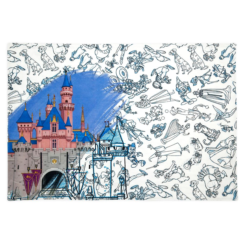 Disney Ink & Paint Reversible Placemat – Sleeping Beauty Castle