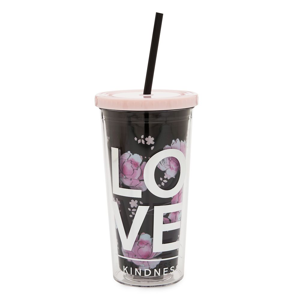 Minnie Mouse Floral Tumbler with Straw