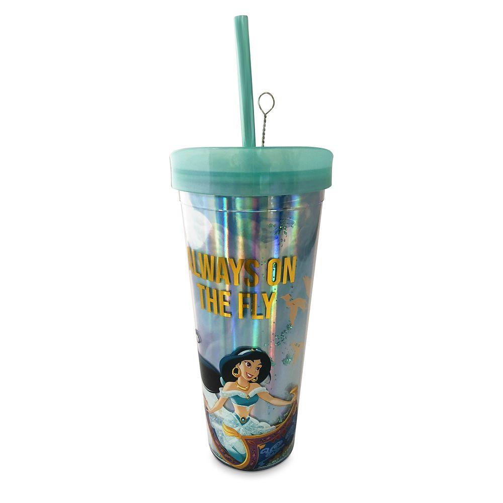 Jasmine Tumbler with Straw  Aladdin Official shopDisney