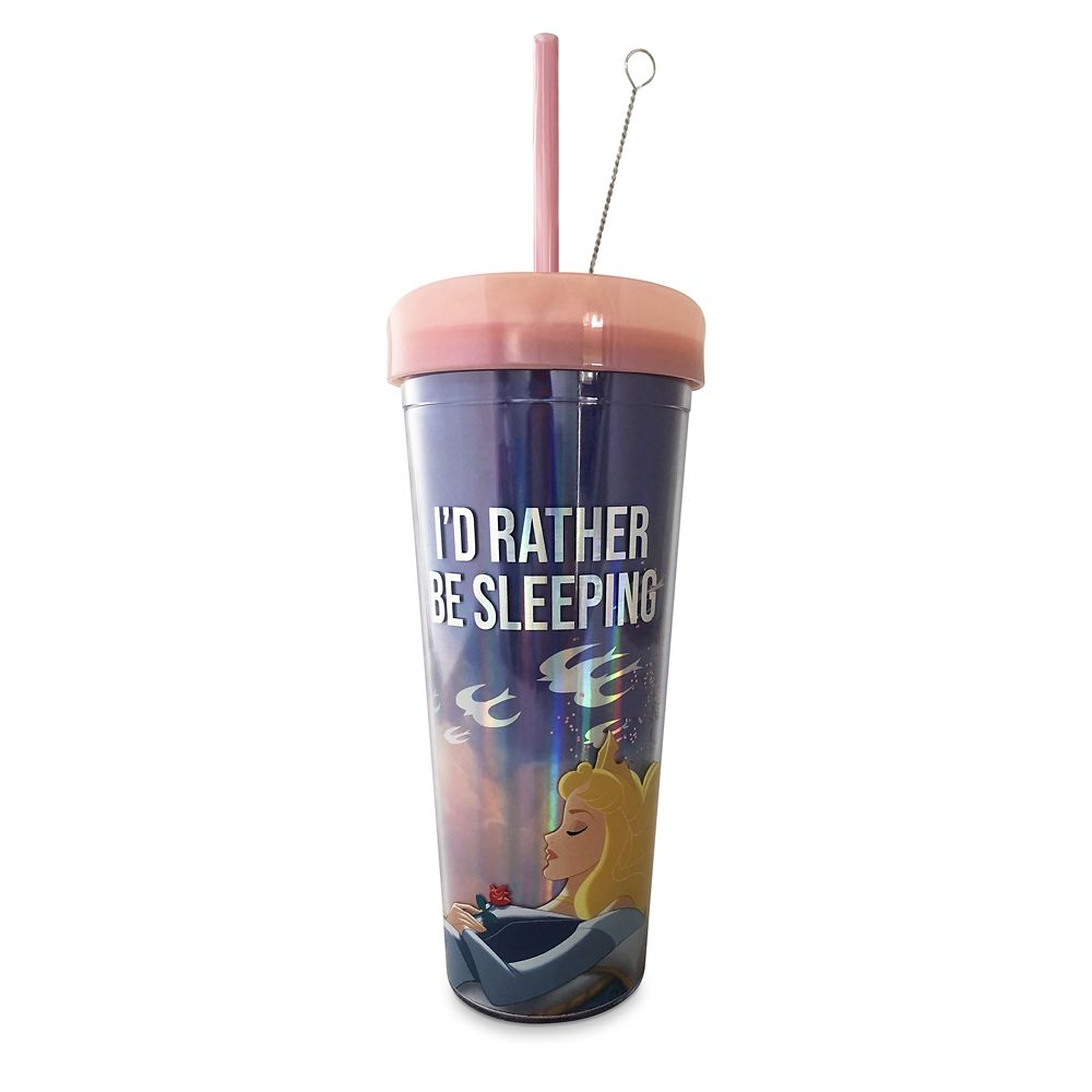 Aurora Tumbler with Straw – Sleeping Beauty